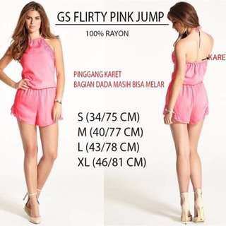 Branded GS Flarity Pink Jumpsuit