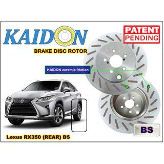 "Lexus RX350 brake disc rotor KAIDON (REAR) type ""RS"" / ""BS"" spec"