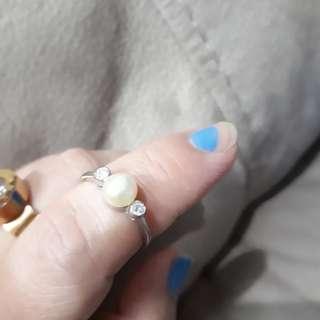 Size 7 silver wdd pearl sale 120