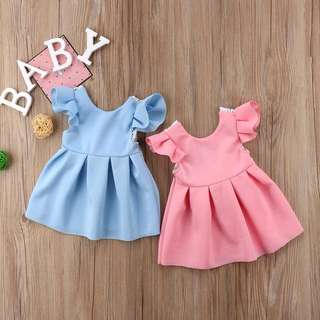 Bay pink Baby Blue Little Dress