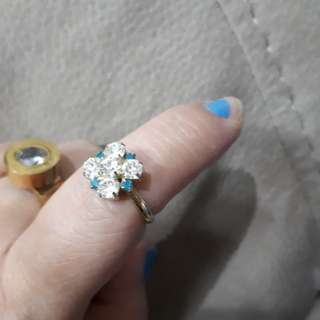 Adjustable fashion crystal ring