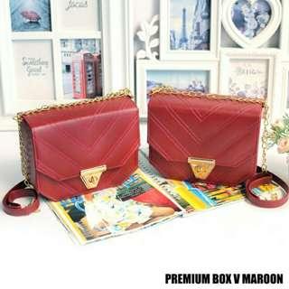 Premium Box V Maroon
