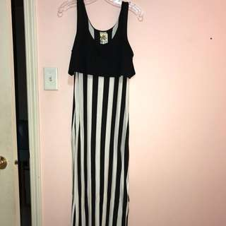 Striped Maxi dress/Beach dress