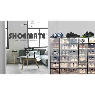 Shoebox Shoemate Clear Collapsible Shoe Box - All Sizes