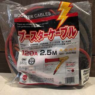 Car Battery Jump start cables made in Japan