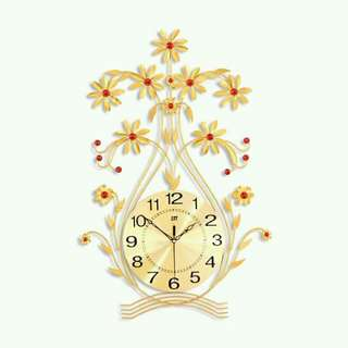Floral Luxury Clock