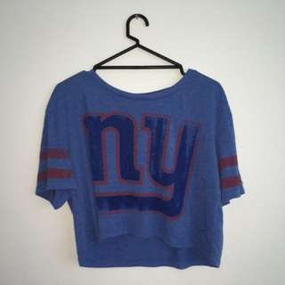 Official nfl New york blue shirt small
