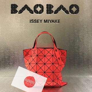 2018 Bao Bao lucent twill 6x6 啞面橙色 日本代購