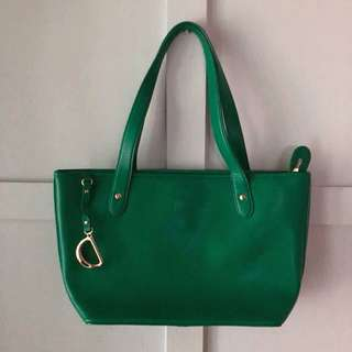 RALPH LAUREN Newbury Green Tote Bag