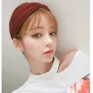 【全新轉賣】韓版針織寬交叉髮帶