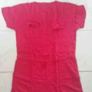 Preloved Jumpsuit Fanta Pink Fit to L mat Katun