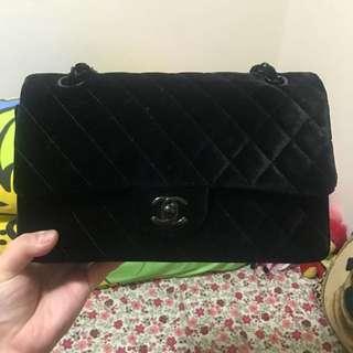 Chanel 2.55 絨面袋