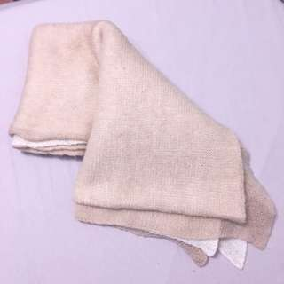 Zara double layered knitted scarf