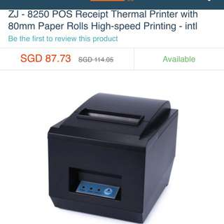 ZJ - 8250 POS Receipt Thermal Printer with 80mm Paper Rolls High-speed Printing - intl