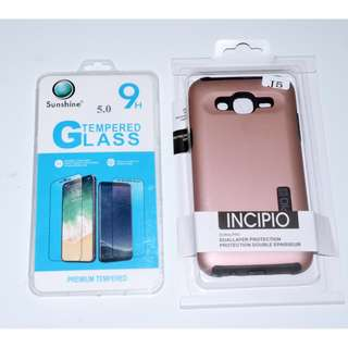 "INCIPIO Case for Samsung J5 Rosegold w/ FREE Tempered Glass 5"" (NEW)"