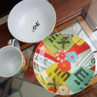 Mug Plate Bowl set