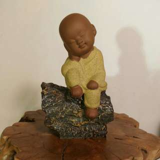 Sales! Resting monk on resin wood
