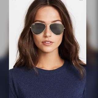 Ray-ban Original Aviator Sunglasses - gold/green