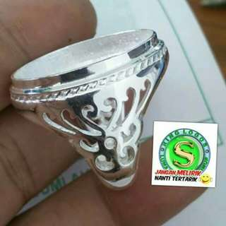Ring alpaka planting silver