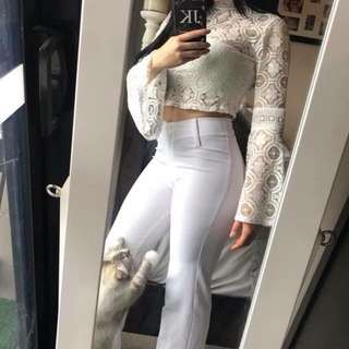 White lace top 👚