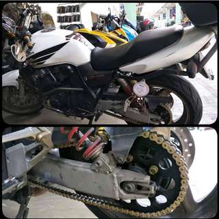 Driven racing 525 sprocket kit for honda cb400 super 4