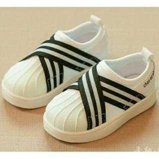 Shoes kets black n white (21-30)