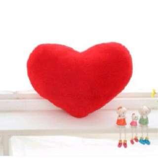 Heart shape pillow soft velvet