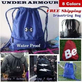 UNDER ARMOUR  ✦ Drawstring Bag ✦ - Sport Bag Shoe Bag Hiking fb1bb15cf48fb