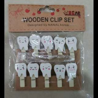 [SALE] Mini Wooden Clips #19 Tooth