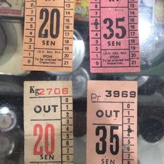 Vintage Ipoh Bus Tickets