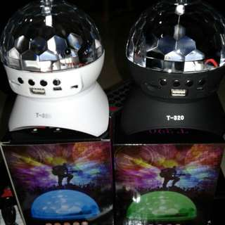 Remote Control Disco Light 360 degree Ball Turning Speaker Latest 2018 Feb Model with remote control, usb charging fm radio micro sd card , come with manual and cable