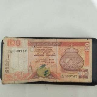 One Hundred Rupees (100) Sri Langka tahun 2000