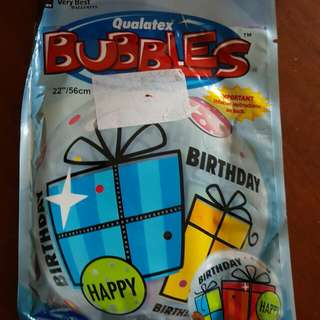 Qualatex bubble balloons-Birthday