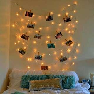 Bundling Lampu Tumblr & Wooden Clip Polos