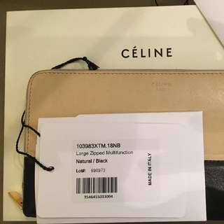Celine Authentic Two Tone Wallet