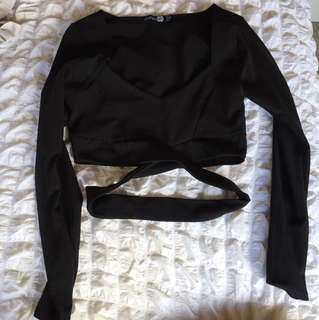 BooHoo Cropped long sleeve