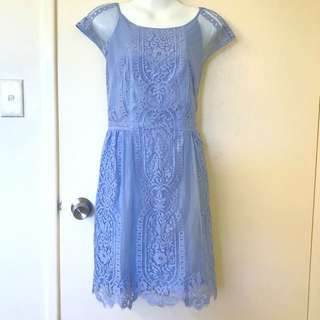 Forever New Baby Blue lace dress size 12