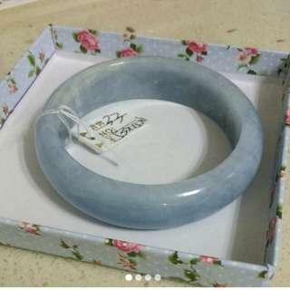 海藍寶手鐲冰裂紋款53mm內徑,梅花碧璽手鐲54-55cm內徑