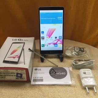 LG G4 Stylus Fullset Likenew