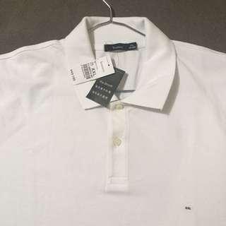 Original Bossini Men's Polo Shirt White XXL Size Authentic