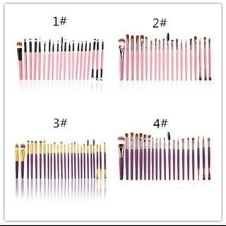Preorder 20 pcs makeup brush set