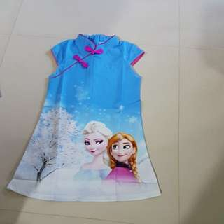 Frozen CNY  Dress Fit 5-6 Years old