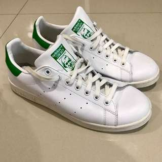 Adidas Stan Smith Green tab size 10.5US mens (fits size 12US nike shoes)