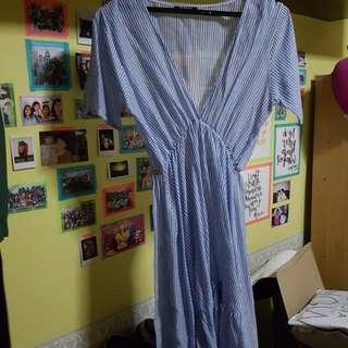 Deep V Midi Dress
