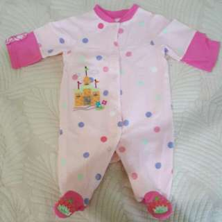 Pink Baby Sleepsuit 3-6months