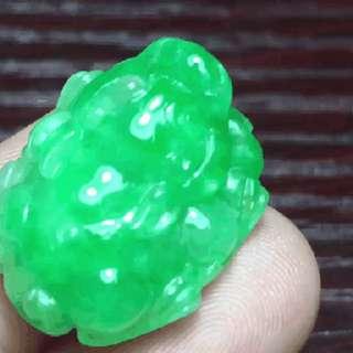 翡翠陽綠貔貅 19.4x15.8x10.2mm