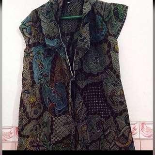 Kimono batik hijau