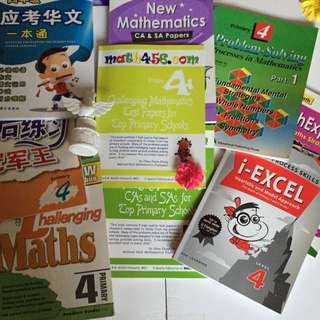 FREE*   Brand New P4 Maths & Chinese Assessment Books