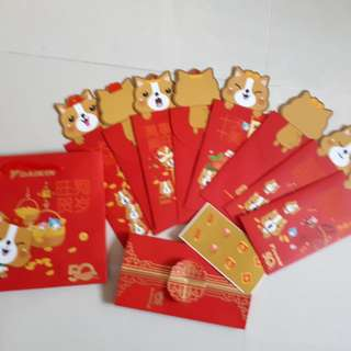 [FREE 2 $10 gift cards + calendar] Cute Doggies Red Packet