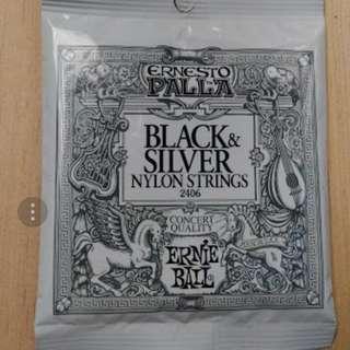 Senar gitar classic ernieball black nylon